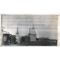 1956 Press Photo US Built Rocket Launch Site Military