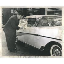 1958 Press Photo George Trakis Car Salesmen