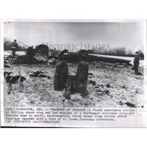 1960 Press Photo NW Airlines Electra Wreckage