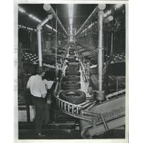 1964 Press Photo Decatur Firestone Plant Millions Tires