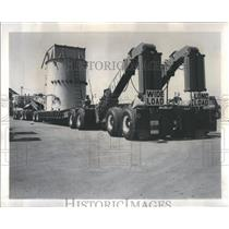 1964 Press Photo Truck Transporting 56-Ton Transformer