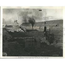 1934 Press Photo Lakes Great Channel Siviuqstone Cranes - RRR94315