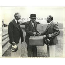 1935 Press Photo Fred Powdrell loses to B.L. Tyrrel in seniors golf tournament