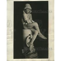 1931 Press Photo Statue of Christopher Columbus by Monteverde, in Genoa, Italy