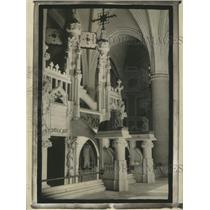 1925 Press Photo Tomb of Christopher Columbus in the Cathedral at Santo Domingo