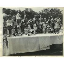 1933 Press Photo Brooklyn NY Annual Baby Contest at Shore Road Hospital NYC