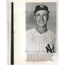 1961 Press Photo Frank Crosetti-Coach Will Temporary Run the New York Yankees
