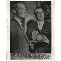 1965 Press Photo Johnny Keane-Yankee's Manager, and Bobby Bragan-Braves Manager