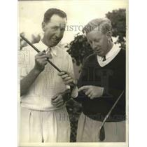 1936 Press Photo Willie Klein and Willie MacFarland in Int'l Four Match
