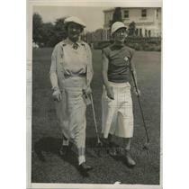 1936 Press Photo Mrs. Gerald Gordon, Elsie Muller McLave in Metropolitan Tourn.