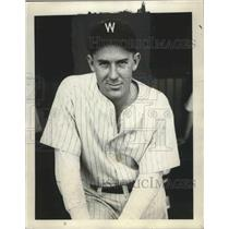 "1931 Press Photo Charles William ""Carl"" Fischer, Washington Senators pitcher"