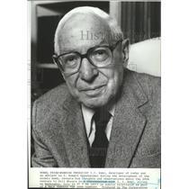 1984 Press Photo Nobel Prize winning physicist I.I. Rabi - spx11676