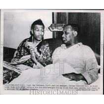 1951 Press Photo Boxer Sugar Ray Robinson & manger George Gainford - nes36364