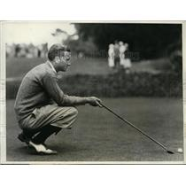 1931 Press Photo Hardy Eichelberger of Stanford U at Intercollegiate golf