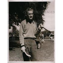 1938 Press Photo Bud Ward at 42nd National Amateur golf championship at Oakmont