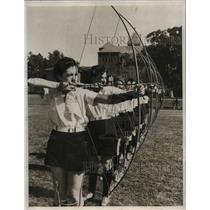 1933 Press Photo USC archers, Elizabeth Drake, Billie Cutler, Marian Tyler