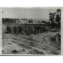 1932 Press Photo Labor Feud at Illinois River Dam at Marseilles Illinois