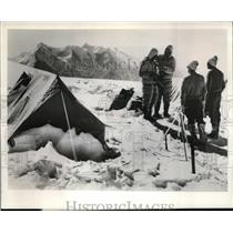 1961 Press Photo Mt Dhaulagiri climbers Expedition Flight to the Giants on ABC
