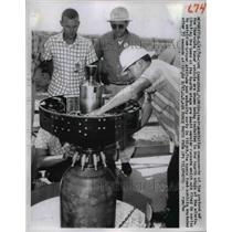 1959 Press Photo Cape Canaveral Fla Thor Able lunar vehicle components