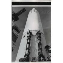 1958 Press Photo US Army Juno II moon rocket at Cape Canaveral Florida