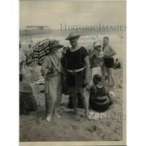 1923 Press Photo Mayor and Mrs.John F.Hylan of N.Y. on the Palm Beach.
