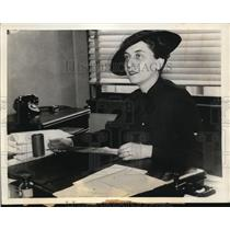 1935 Press Photo Clara Orlando daughter of former Italian Premier Vittorio