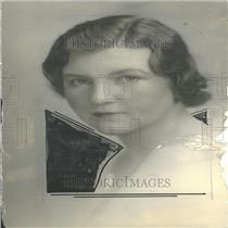 1934 Press Photo Portrait Mrs Hayden Closeup