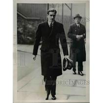 1936 Press Photo Anthony Eden Sees King Edward before Going to House of Commons