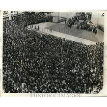 1932 Press Photo Political demonstration in Brazil at Sao Paulo - nep00054
