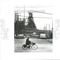 1989 Press Photo Zug Island River Rouge Detroit