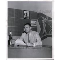 1956 Press Photo Hal Childs, KOIN Radio - orc02794