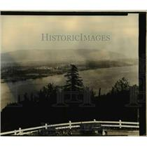 1933 Press Photo Panoramic view of Puget Island - orb98681
