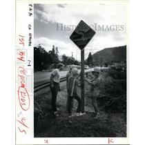 1990 Press Photo Marty Kane, Tyson Latourrette, John Hulet and Wyatt Woolley
