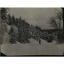 1928 Press Photo View of Lake Park in the winter - mja43474