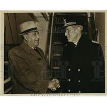 1942 Press Photo New York Vice Admiral Vicente Marino Bielich greeted NYC