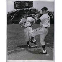 1954 Press Photo University of Minnesota's Paul Cial and New York Giants