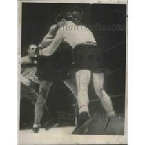 1937 Press Photo bout between Joe Louis and Bob Pastor