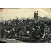 1965 Press Photo American Civil War soldiers in trenches near Petersburg