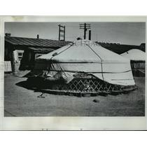 1962 Press Photo Yurts used as housing in outer Mongolia - mjx22366