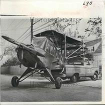 1966 Press Photo Reconditioned Second World War Plane Delivered at Airport