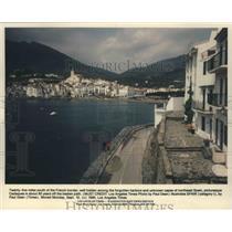 1990 Press Photo Cadques, Spain Harbor - fux00237