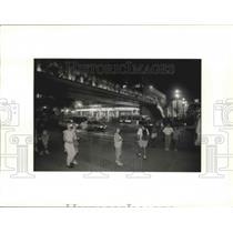 1992 Press Photo Place de Espanya, Barcelona, Spain - fux00252