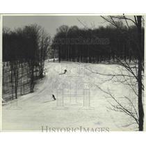 Press Photo Lauerentians Ski East Quebec, Canada Ski Hill - fux00454