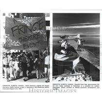 1993 Press Photo Edmonton, Alberta, Canada Tourist Attractions - fux00634
