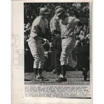 1970 Press Photo Cubs Ernie Banks scores vs Expos in Chicago - lfx00454