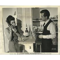 """1962 Press Photo Actor Bobby Darin, Stefanie Powers in """"If a Man Answers"""""""