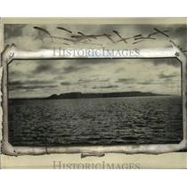 1924 Press Photo View of the Sleeping Giant island at Lake Superior - mja43478