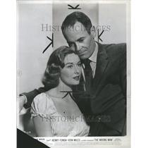 1957 Press Photo Vera Miles Henry Fonda Wrong Man - RRR75661