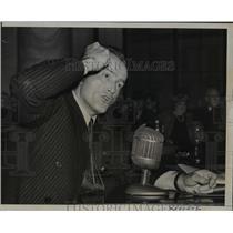 1941 Press Photo Major Al Williams at Senate Foreign Relations Hearing