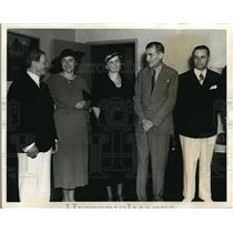 1927 Press Photo US Commissioner Dr Nicola Cerri, Mrs Vladimir Hurbam